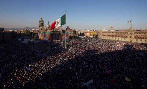 AMLOFest en el Zócalo. Foto: La Razón.