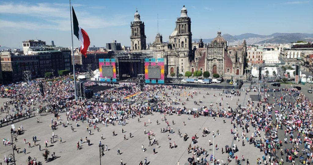AMLOFest en el Zócalo. Foto: SinEmbargo