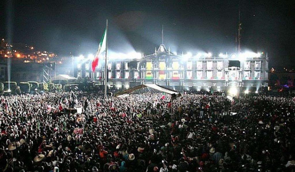 Festejo del 15 de septiembre en Toluca
