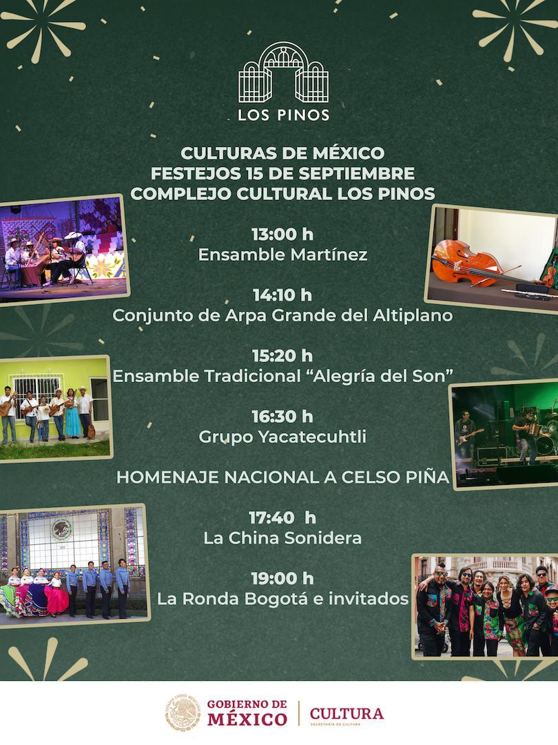 Homenaje a Celso Piña 15 de septiembre en Los Pinos