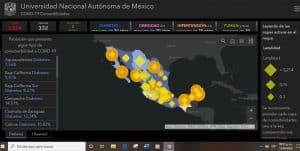 UNAM lanza sitio para visualizar avance del COVID-19 en México