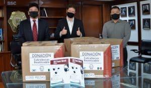 Embajada de la República de Corea dona 10 mil cubrebocas a policías de la CDMX