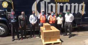 Grupo Modelo dona 3 mil caretas a policías de la CDMX