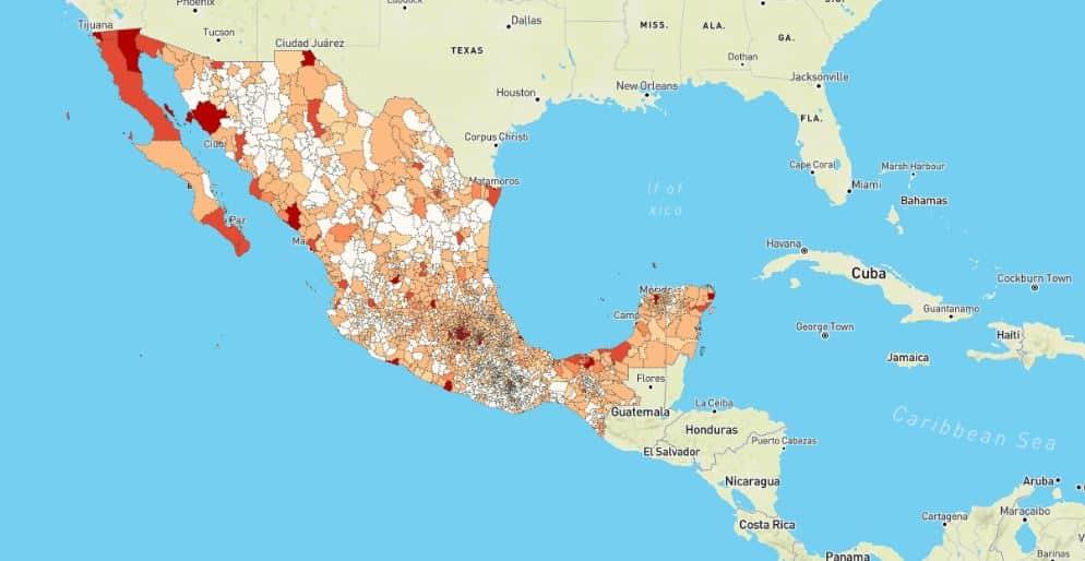UNAM identifica las zonas más vulnerables de México ante COVID-19