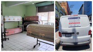 Clausuran 11 funerarias ilegales en Edoméx