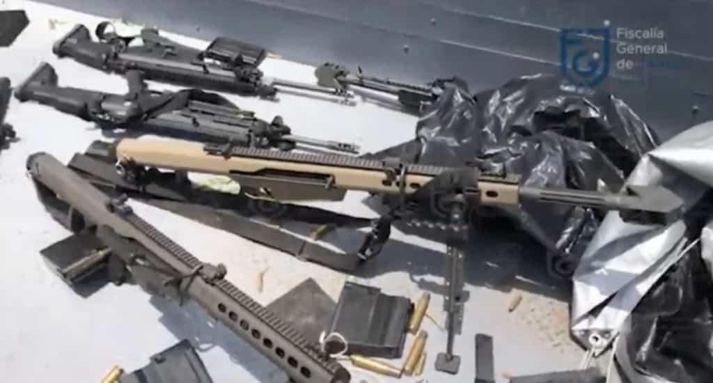 arsenal decomisado tras atentado a García Harfuch