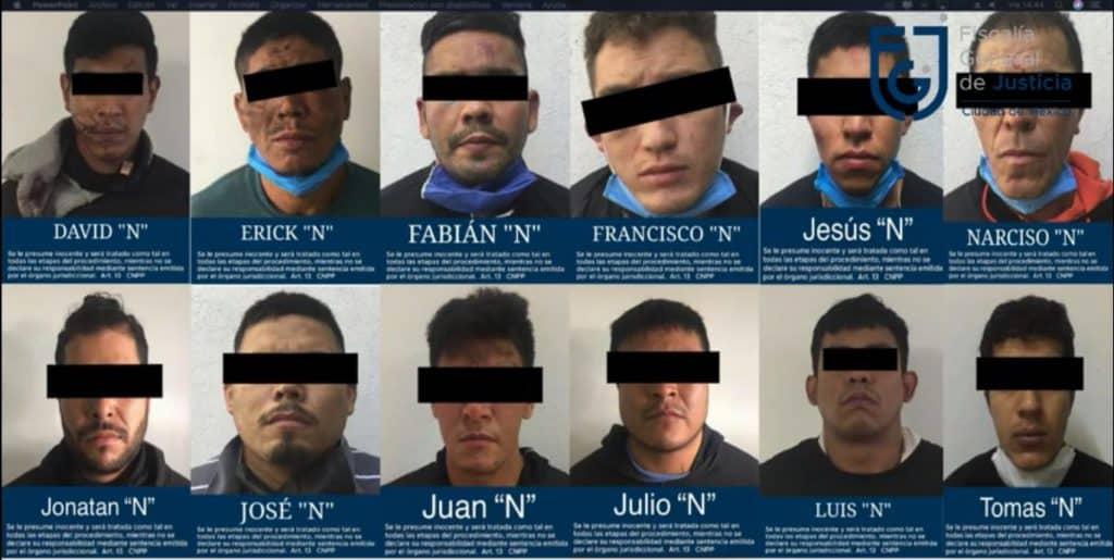 Fiscalía difunde imágenes de los detenidos por atentado a Omar García Harfuch