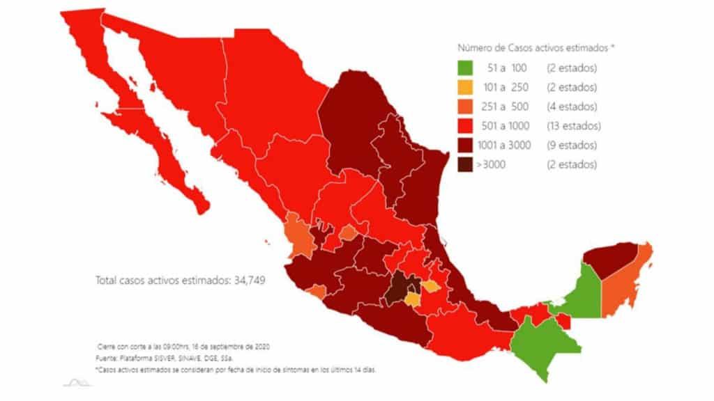 Coronavirus en México al 16 de septiembre