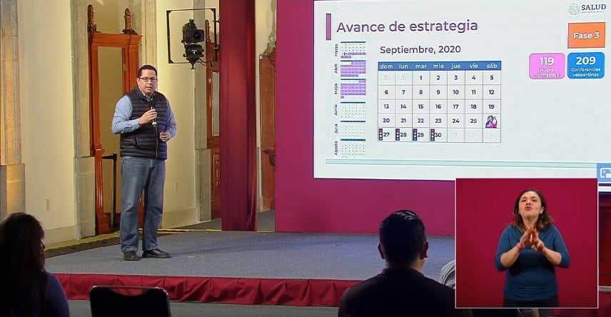 coronavirus en México al 26 de septiembre