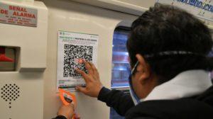 códigos QR para rastrear COVID-19 en el Metro de la CDMX