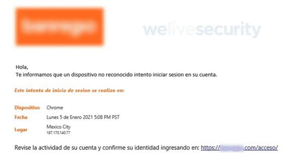 nueva forma de robar contraseña de clientes bancarios en México