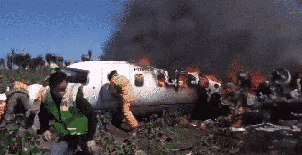 Aeronave de la la Fuerza Aérea Mexicana sufre accidente en Veracruz