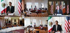 Marcelo Ebrard sostiene encuentro virtual con el secretario de Estado Antony Blinken
