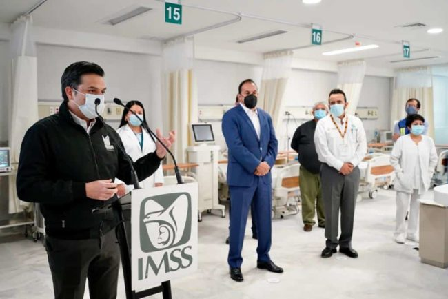 Área COVID del hospital del IMSS en Cuautla