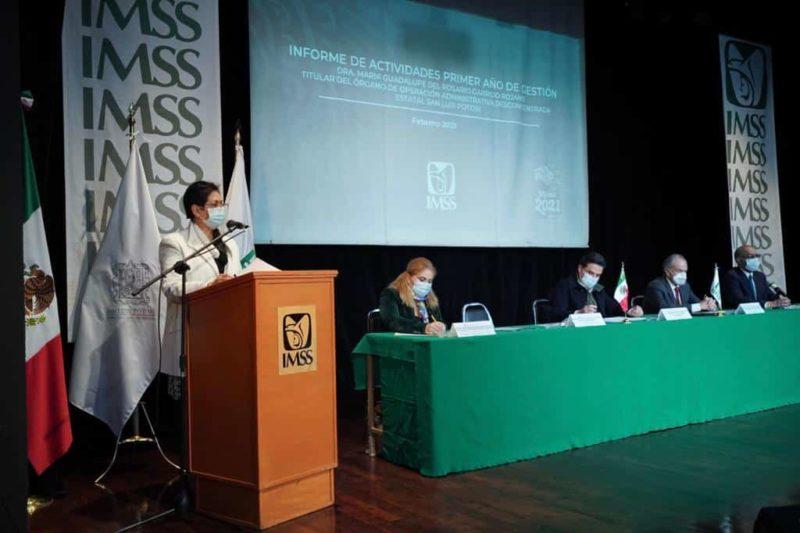 Rinde su primer informe la representante del IMSS en San Luis Potosí