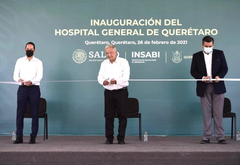 López Obrador inaugura el Hospital General de Querétaro