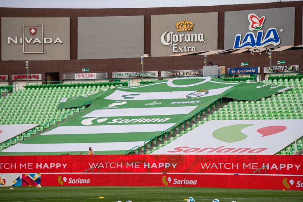 Estadio del Santos Laguna tendrá un aforo del 40% al recibir al Necaxa