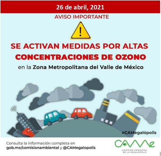 contingencia ambiental CDMX 26 de abril