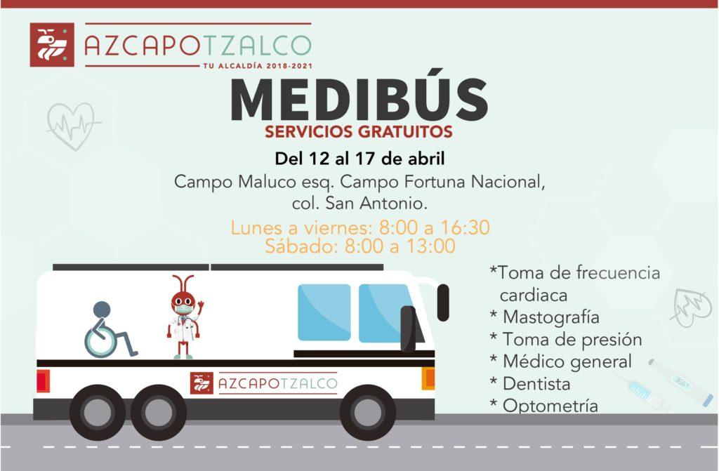 servicios médicos gratuitos a Azcapotzalco