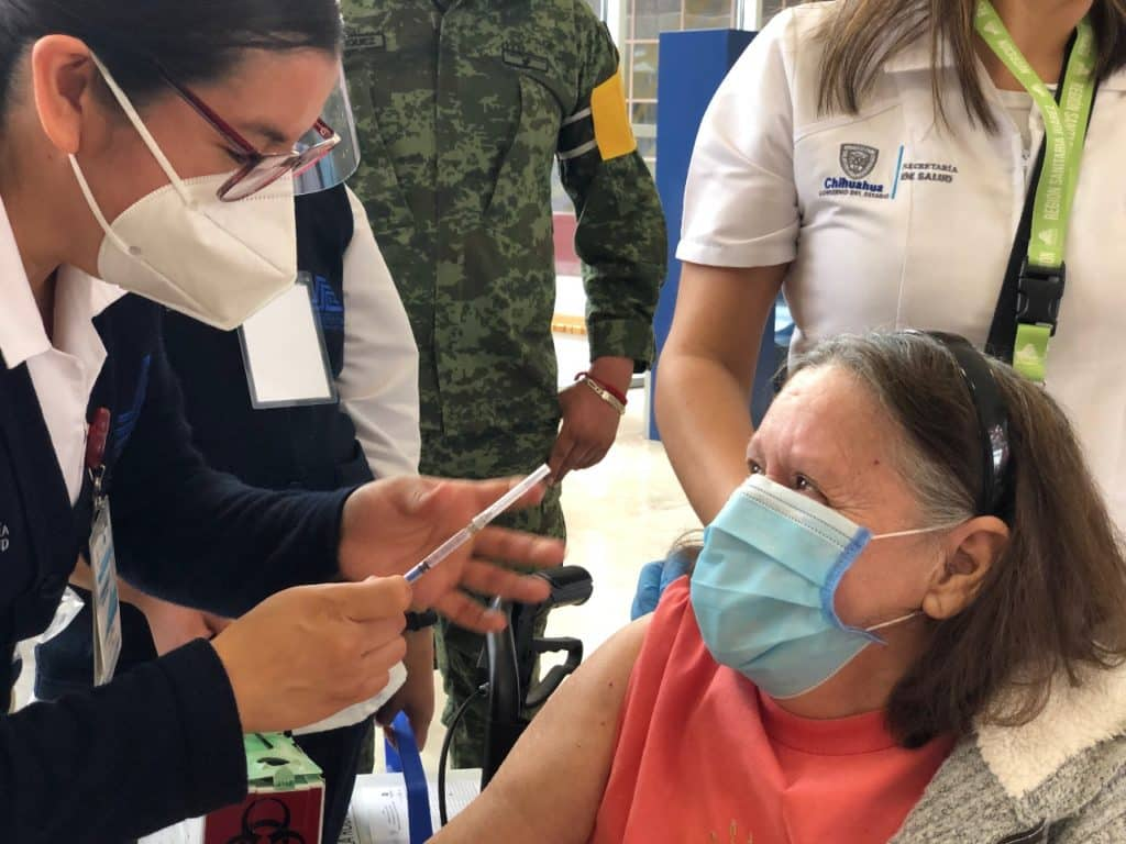 vacunación contra COVID en Ciudad Juárez