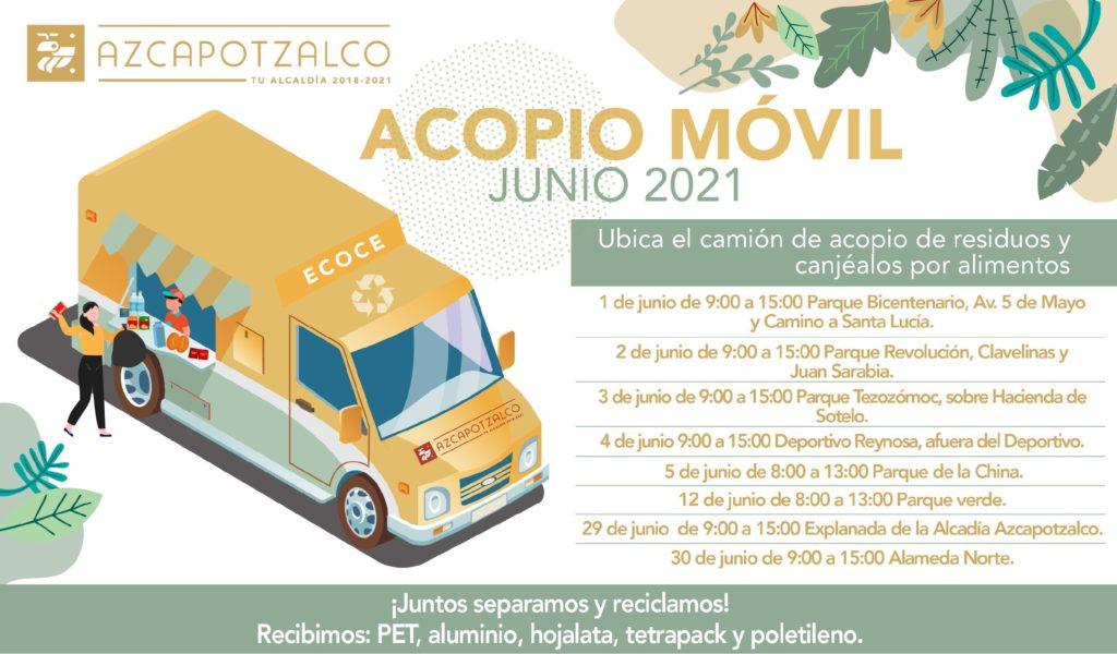 Azcapotzalco acopio móvil junio