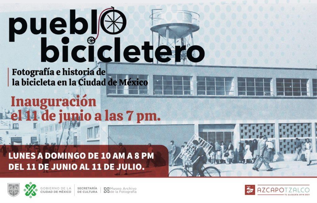 """exposición """"Pueblo bicicletero"""" en Azcapotzalco"""