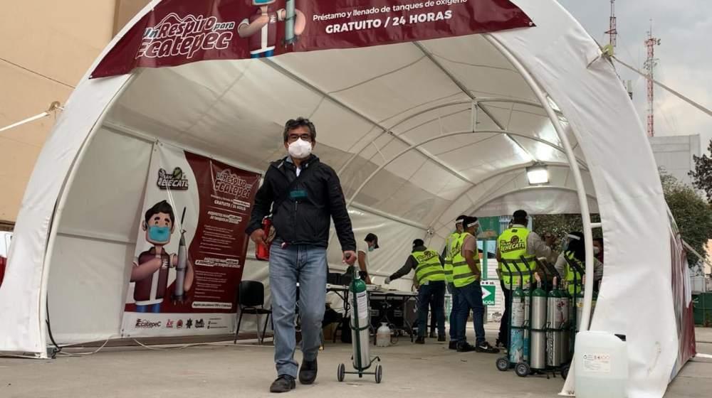 Ecatepec préstamo de tanques de oxígeno