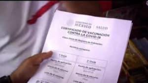 Falsificar certificado de vacunación COVID
